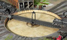 model railroad bridges | PTC Model III Home Page Model Railroad Turntable Indexing System