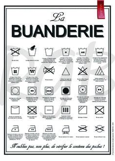Affiche La Buanderie - à télécharger, à imprimer : Textiles et tapis par affiche-rgb4you