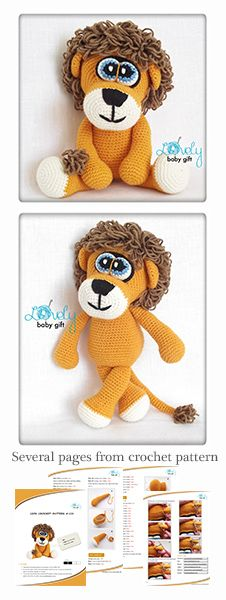 Amigurumi pattern - lion crochet pattern https://www.etsy.com/listing/126599436/crochet-animal-pattern-amigurumi-crochet?ref=shop_home_active_4