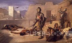 The Chobala massacre during the Spanish conquest, by Felix Parra ...
