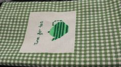 Tea for Two Cross Stitched Kitchen Towel
