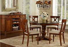 Shop for a cindy crawford home key west dark pedestal 5 pc dining room at rooms to go find Badcock home furniture more cutler bay fl