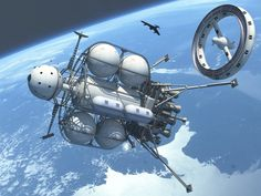 Another Outing For My Von Braun Moonship by Paul-Lloyd on DeviantArt