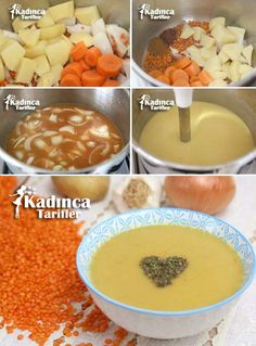 Turkish Recipes, Homemade Beauty Products, Diy Food, Soup Recipes, Food And Drink, Pudding, Fruit, Cooking, Breakfast