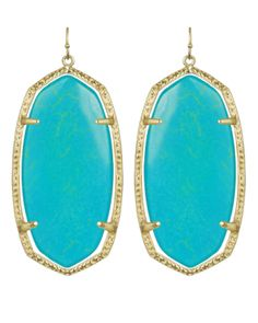 Kendra Scott Turquoise Earrings! My BFF just sent these to me for my Bday! I luv them! Thanks Cindy!