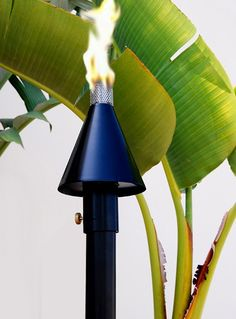 Legends Direct // Big Kahuna Black Cone Permanent Gas Tiki Torch - $319.00