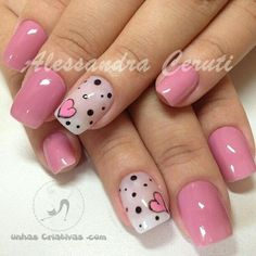 Red nails are great for parties - so why not get funkier with those talons this Valentine's Day! From arty doodles to patchwork hearts - we'll have your nails Love Nails, Pink Nails, Pretty Nails, My Nails, Valentine Nail Art, Heart Nails, Super Nails, Fabulous Nails, Creative Nails