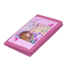 Carousel Dreams Pink Hearts Wallet #trifold #wallet #carouseldreams #mommy #baby #pink #accessorize #accessories #moondreamsmusic #carousel #zazzle