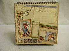 cricut craftin grammy: Graphic 45 A Place in Time Flip Calendar class