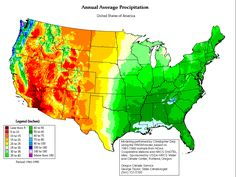 Average Annual Precipitation in Continental United States, Century, North America, United States) Places In America, Pub Set, Rainwater Harvesting, Historical Maps, Homesteading, The Good Place, United States, Weather, How To Plan
