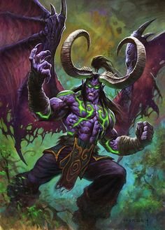 Illidan Stormrage by AlexHorley Blizzard Hearthstone demon devil king lord monster beast creature animal | Create your own roleplaying game material w/ RPG Bard: www.rpgbard.com | Writing inspiration for Dungeons and Dragons DND D&D Pathfinder PFRPG Warhammer 40k Star Wars Shadowrun Call of Cthulhu Lord of the Rings LoTR + d20 fantasy science fiction scifi horror design | Not Trusty Sword art: click artwork for source