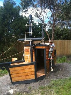 A pirate ship playhouse. Awesome. (Must be in adult size though).