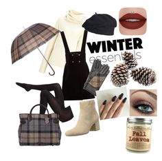 """Baby it's cold outside"" by petreshka-lee-richardson ❤ liked on Polyvore featuring Joseph, AlexaChung, Wolford, Marc Fisher and Barbour"