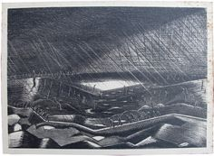 Rain, Zillebeke Lake by Paul Nash (Belgium, 1918)