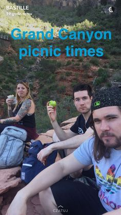 Bastille's picnic on the Great Canyon