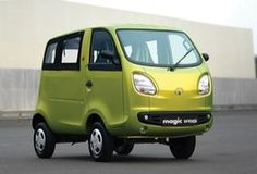 Tata Magic Irisis a 3-door, 4- or 5-seatercabovermicrovan/minivan(MPV) manufactured by theIndianautomakerTata Motors. Powered by a 600cc one-cylinderdiesel engine, it is intended to compete withauto-rickshaws.[2] With its engine delivering 11hp (8kW) and 31 Nm of torque,[3]the vehicle has a top speed of just 34mph (55km/h).