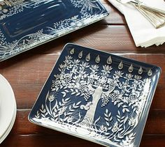 Good thing Dad's not on Pinterest ... he's getting these too :) Tree of Life Menorah Platters #potterybarn