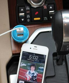 This Blue USB Car Charger is perfect! #zulilyfinds