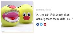 20 Genius Gifts For Kids That Actually Make Mom's… Life Savers, Rubber Duck, Toothbrush Holder, Piggy Bank, Gifts For Kids, Mom, Children, How To Make, Gifts For Children