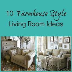 10 Farmhouse Style Living Room Ideas New Living Room, Home And Living, Living Room Decor, Farmhouse Remodel, Farmhouse Style, Country Style, Modern Farmhouse, Living Room Inspiration, Decoration