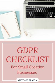 GDPR Checklist for Small Creative Businesses — Amy Caiger Business Planning, Business Tips, Online Business, Business Management, Harvard Business School, Creating A Business, Business Entrepreneur, Blogging For Beginners, Creative Business