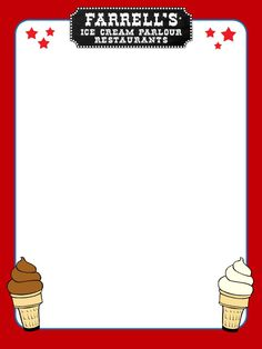 Journal Card - Farrell's Ice Cream Parlour - lines - photo by pixiesprite Farrell's Ice Cream, Parlour, Disney Stuff, Playing Cards, Scrapbook, Journal, Drawing Room, Playing Card Games, Scrapbooking