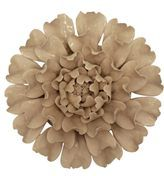 Ceramic Off White Large Flower Wall Hanging