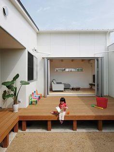施工例_08|ソラマド香川 Architecture Courtyard, Interior Architecture, Backyard Lighting, Japanese Interior, Indian Home Decor, Home And Deco, Minimalist Home, House Rooms, Building Design