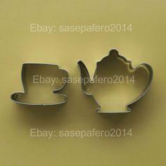 Teapot & Tea cup stainless steel cookie cutter  2 pieces set. #TeapotCookieCutter #TeaParty #TeapotCookie http://www.ebay.com/usr/sasepafero2014