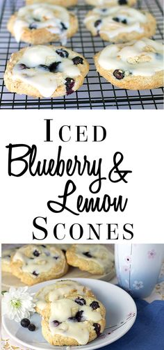 Iced Blueberry & Lemon Swirl Scones
