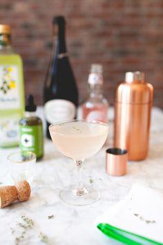limoncello, prosecco, rose lemonade and tarragon spice - the bella rosa // coco + kelley