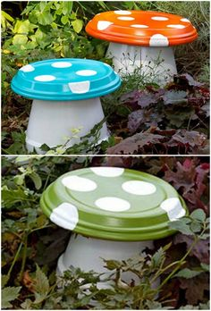 Garden pots diy - How To Make Clay Pot Toadstools For Your Garden – Garden pots diy Garden Yard Ideas, Diy Garden Projects, Garden Crafts, Garden Pots, Garden Club, Yard Art Crafts, Garden Pallet, Fairy Crafts, Clay Projects