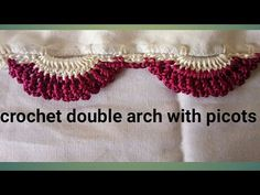 Crochet double arch Saree kuchu/ Saree tassel / edging with picots by Nidhi fashions Hand Embroidery Videos, Bead Embroidery Patterns, Embroidery On Clothes, Lace Patterns, Beaded Embroidery, Crochet Patterns, Crochet Lace Edging, Crochet Art, Thread Crochet