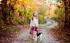 kids in forest with man and dog - Google Search