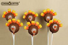 Pumpkin Cake Pop in a Turkey Design - Thanksgiving