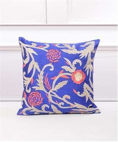 Floral Threadwork Cushion Cover | I found an amazing deal at fashionandyou.com and I bet you'll love it too. Check it out!