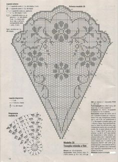Home Decor Crochet Patterns Part 14 - Beautiful Crochet Patterns and Knitting Patterns - Hekling Crochet Tablecloth Pattern, Crochet Doily Diagram, Filet Crochet Charts, Crochet Doily Patterns, Thread Crochet, Crochet Motif, Crochet Doilies, Crochet Stitches, Embroidery Patterns
