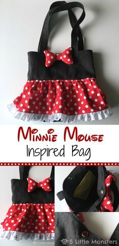 5 Little Monsters: Minnie Mouse Inspired Bag