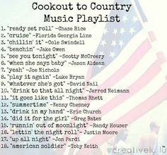 the perfect country music playlist for summer cookouts - Alexis Cortez Country Songs List, Country Music Playlist, Country Music Quotes, Country List, Country Song Lyrics, Top Country, Summer Playlist, Song Playlist, Summer Songs