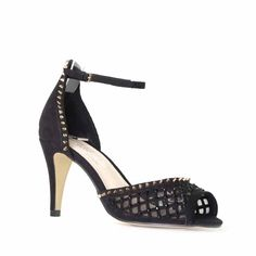 Nude Footwear 21ST. Flirty, fashionable and the perfect heel height for a fashionable day at the race track!