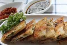 Spring Onion and Garlic 'Pancakes'