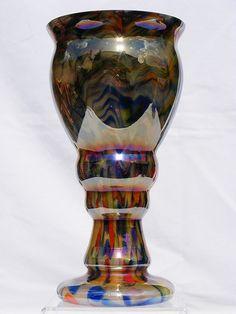 Kralik multi-coloured glass vase