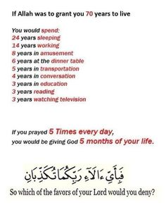 "Out of 70 years of life, surely we can give 5 months of our time. After all, this is why we were created. - ""Allah ta'ala wishes to make things easy for you and not to make things difficult for you."" Quran 2:185"