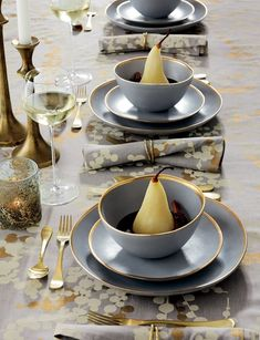 Dinnerware at Crate and Barrel is designed to be a part of your day, every day—whether you're just starting out, just married, or just love to entertain. Our versatile designs and unique dinnerware sets can dress up or down. Hurricane Candle Holders, Taper Candle Holders, Crate And Barrel, Beautiful Table Settings, Fall Table, Deco Table, Glass Texture, Grey And Gold, Dinnerware Sets