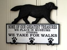 Labrador Life Line Labour of Love Auction; Labrador Walkies Coat/Leash Rack by Brenda Watts