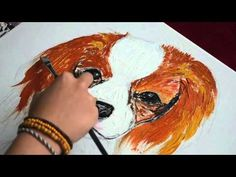 Anna Banana - How to draw and Paint Cavalier king charles spaniel - Anna Rees Art