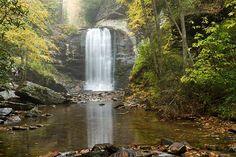 Looking Glass Falls - Pisgah Forest, NC  #waterfalls #lookingglassfalls