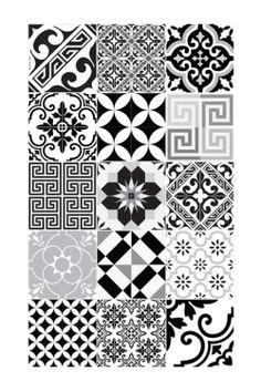 Leroy merlin carreau ciment mat belel epoque d cor emma Carreaux de ciment noir et blanc