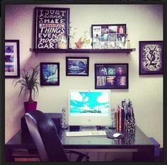 Help your husband decorate his boring small office officemakeover