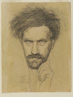 Austin Osman Spare (1888-1956), Self Portrait, 1935, Pencil on paper | V&A